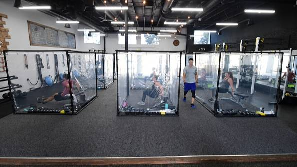 California Gym Reopens After Building Workout Pods For Members